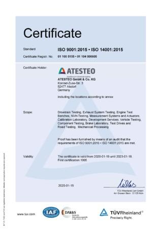 ISO品質管理と環境管理の認定